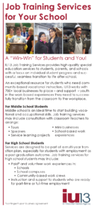Job Training Services for Your School