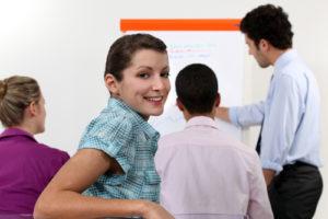 Woman in classroom