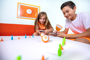 Kids playing with Sphero
